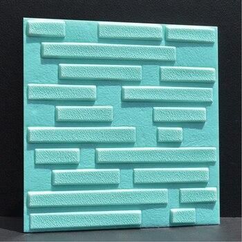 3D PE espuma Flexible piedra pared de ladrillos pegatina para pared con patrón 30*30cm * 1 Uds decoración del hogar TV sofá pared arte Mural cuadrado DIY papel tapiz