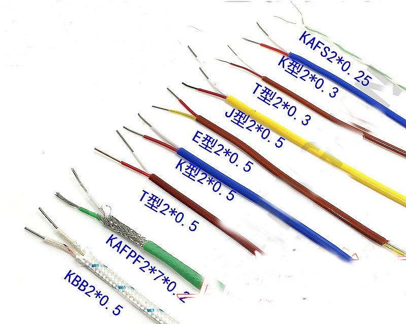 High precision 10/20M Brown T type Thermocouple Compensation wire 2*0.3MM 2*0.5mm Teflon temperature measurement wire цена 2017