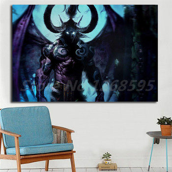 Illidan Stormrage World Of Warcrafts Animated Wallpaper Art Canvas Poster Painting Wall Picture Print Home Bedroom Decoration image