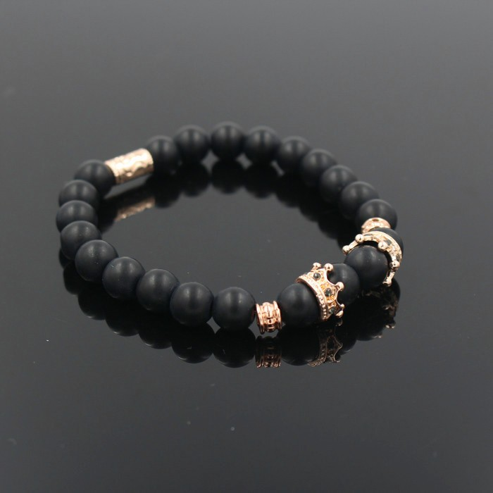 gold-imperial-crown-with-natural-matt-stone-black-bracelet-4