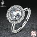Весенняя Коллекция 925-Sterling-Silver Примулы Бриллиант Наследие Белый CZ Чистый Камень Кольца Совместимость с VRC Ювелирные Изделия A7149