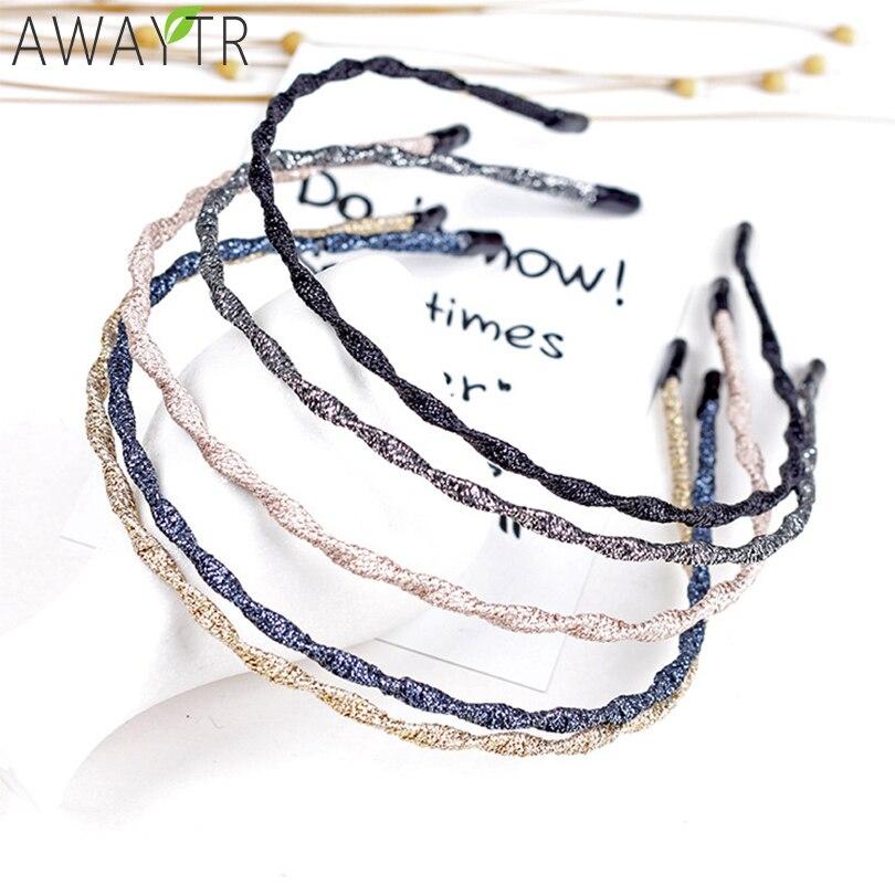 Women Wave Metallic Solid Hairband DIY Craft Metal Handmade Hair Band Shining Headbands Hair Accessories Women Girls   Headwear