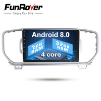 Funrover 9 2din Car dvd Player For KIA Sportage 2016 2017 Kx5 2G+32G navigation car radio stereo headunit car multimedia player