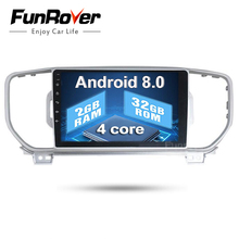 Funrover 9″ 2din Car dvd Player For KIA Sportage 2016 2017 Kx5 2G+32G navigation car radio stereo headunit car multimedia player