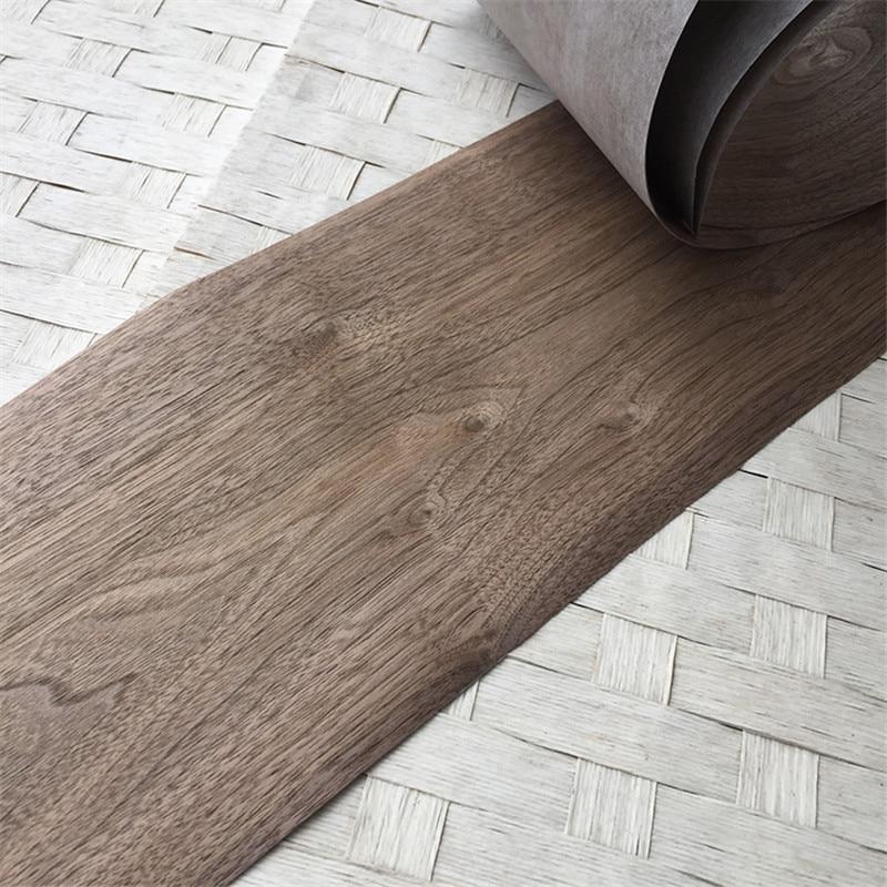 2x Natural Genuine Wood Veneer Sliced Walnut Furniture Veneer 20x250cm 0.25mm Thick C/C