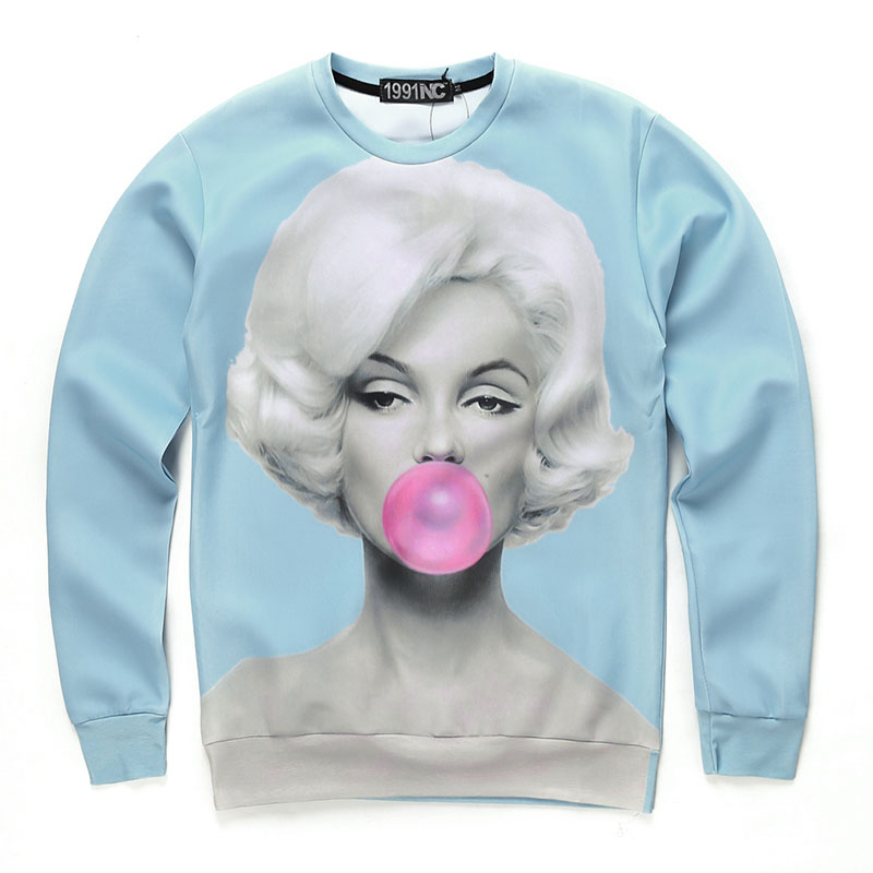 Marilyn Monroe Casual Graphic Pullover Hoodie