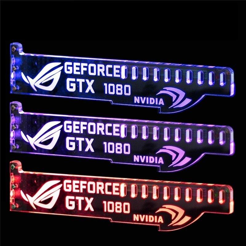 LED GPU soporte para tu novio/marido acrílico Universal tarjeta gráfica apoyo soporte GTX 1080, 1070, 1060 de ti