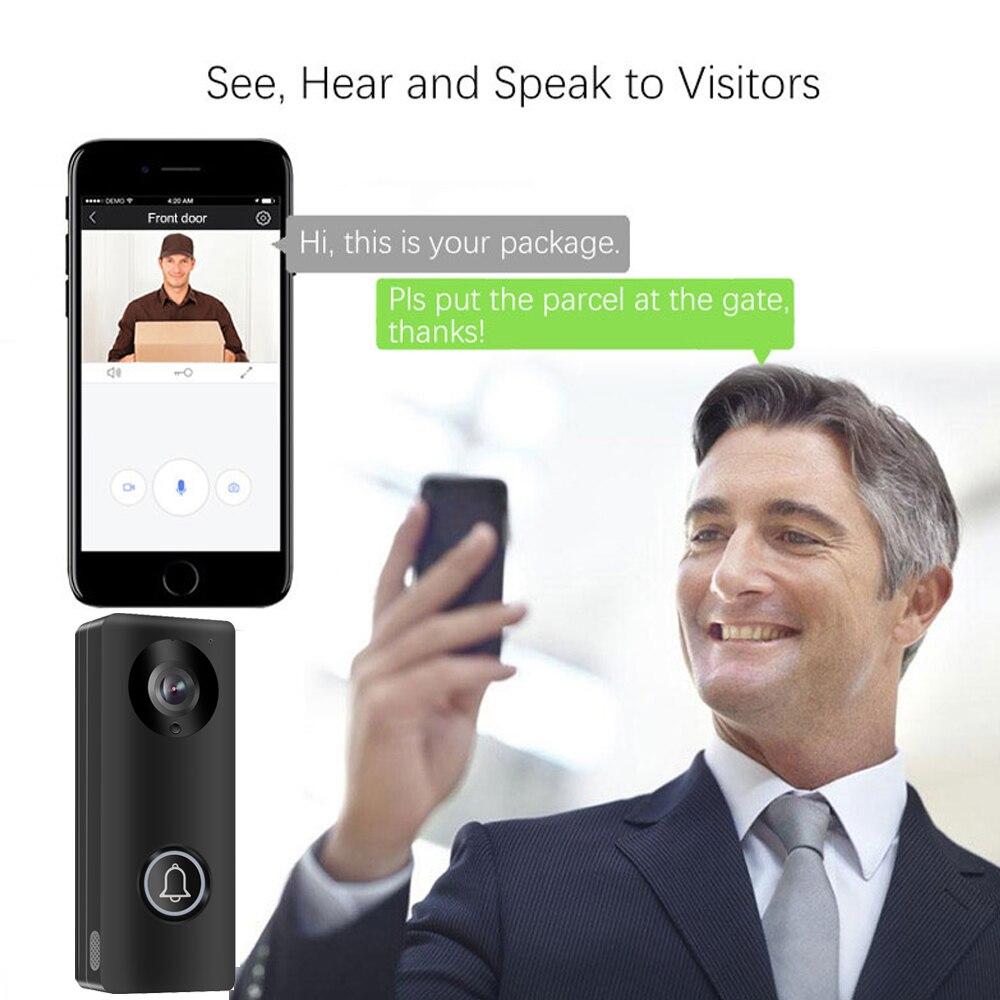 1080P Wireless WiFi Video Doorbell Door Phone Intercom Camera PIR Motion Detection Alarm Remote Monitor Home Security