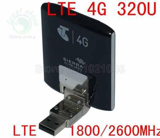 Ontgrendeld 4g lte Modem Aircard Sierra 320U 4G LTE Modem card 100 Mbps lte 4g USB Dongle modem 3g android dongle met sim slot