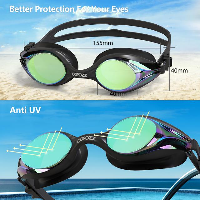 Professional Men Women Swimming Goggles Anti Fog  Leak UV Protection Swim Eyewear Adjustable Adult Water Glasses