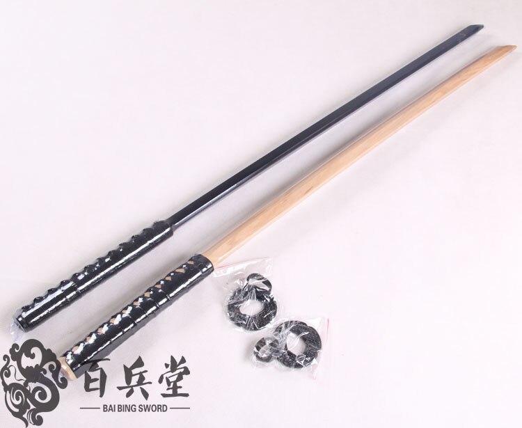 Bonne qualité Kendo Shinai Bokken couteau à épée en bois tsuba, katana nihontou formation d'escrime Cosplay COS formation épées - 2