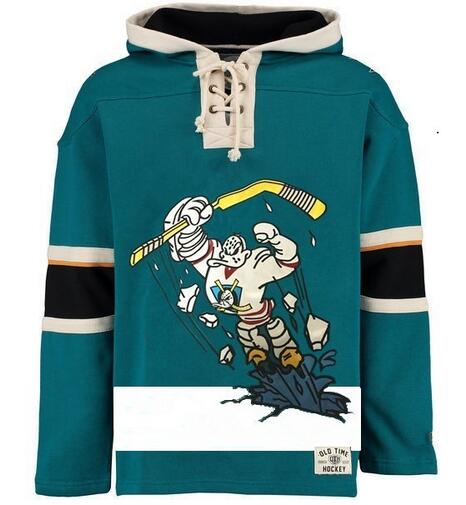 Ducks Logo Style Personality Customize Any Name Any Numeber Stitched Men Hoodie Sweater Ice Hockey Jersey