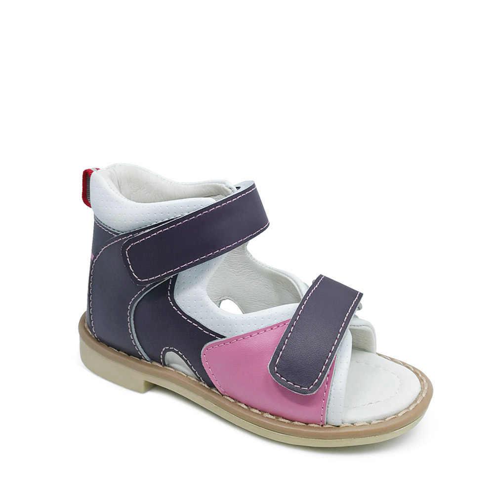 8299b711b ... Детские кожаные сандалии детская ортопедическая обувь арочная опорная  площадка для девочек принцессы Летняя обувь Chaussure сандалии ...