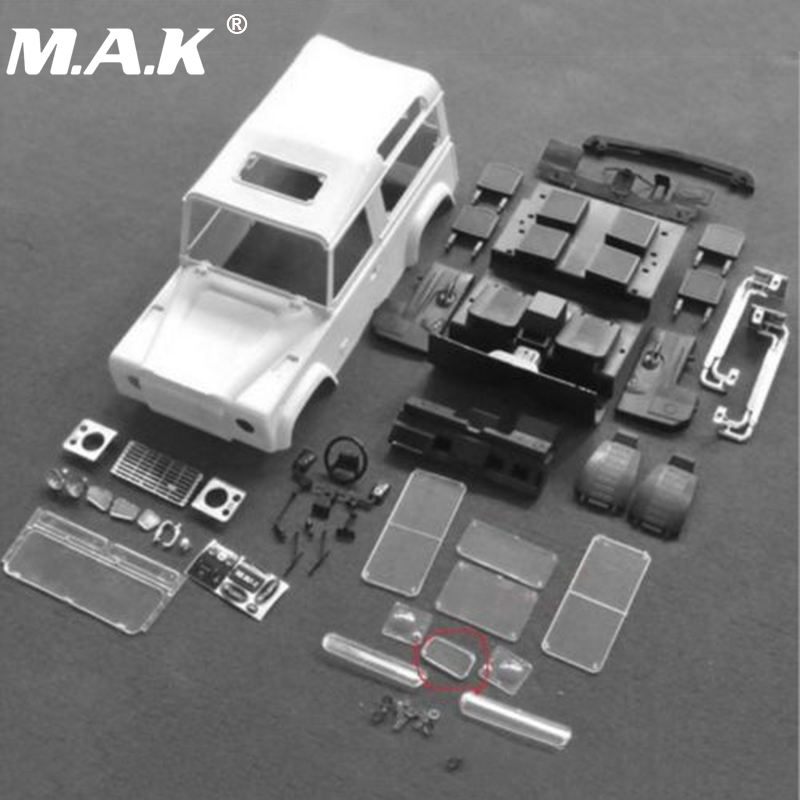 RC Car Parts 1/10 Scale Rock Crawler Body Xtra Speed D90 Hard Plastic Body Shell Interiors System Kit 4WD Accessory rc car xtra speed 1 10 nylon angry eyes grill body for 1 10 scale models jeep wrangler body xs 59758 scx10 jeep climbing cars