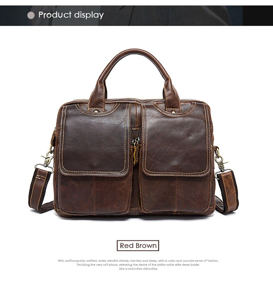 Herrentaschen Gepäck & Taschen Aktentaschen Leder Herren Aktentaschen Taschen Schulter Mann Echtem Leder Aktentasche Taschen Für Männer Große Kapazität Laptop Handtasche 8002