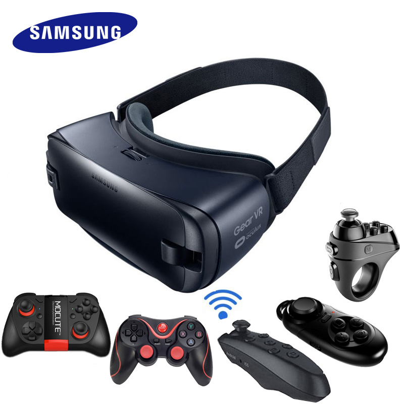 d519a06b1 VR 4.0 Óculos 3D Gyro Sensor de Realidade Virtual da engrenagem Capacete  Construído Para Samsung Galaxy Note 7 S6 S6 Borda + S7 S8 S9 S8plus S7Edge  em ...