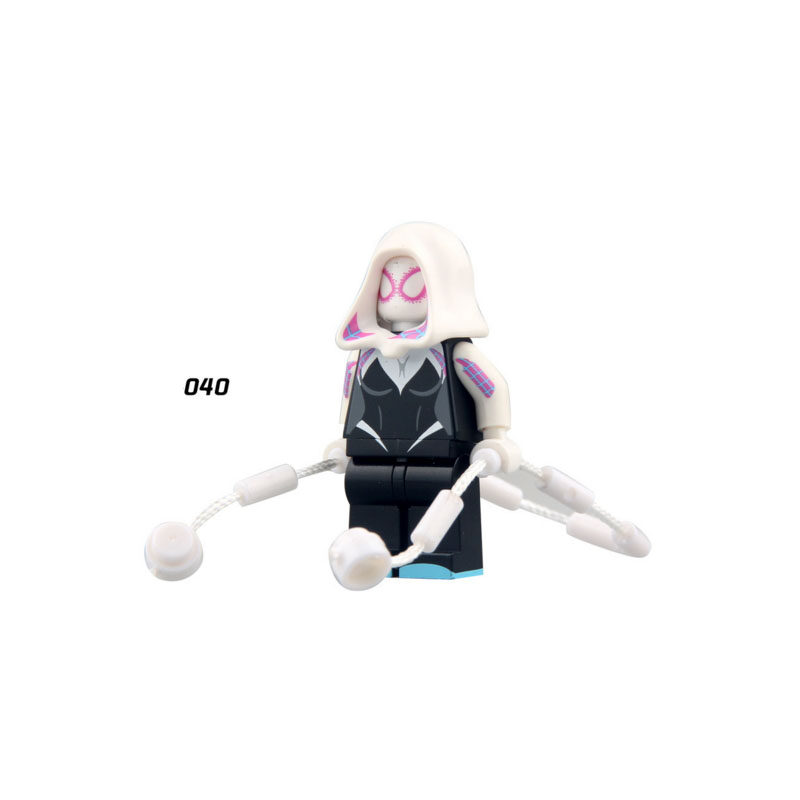 Single Sale Super Heroes Star Wars Spider Gwen Stacy 040 Mini Building Blocks Figure Bricks Toys Gifts Compatible Legoed Ninjaed