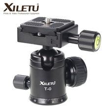 Hugely popular Xiletu T-0 Portable Light weight Ball Head&Clamp and Mounting Plate For Tripod 1/4' 3/8'Screw For Digital