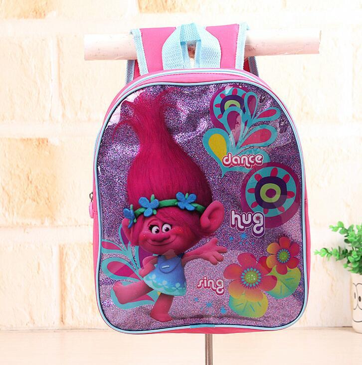 New Trolls Cartoon School Backpack For Kids Snow Queen Students In School Bags Children Backpacks Mochila Infantil
