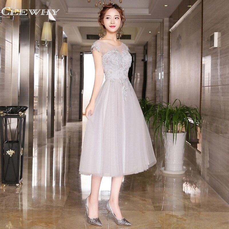 CEEWHY Short   Evening     Dresses   Beaded Appliques   Evening   Gown Party Elegant Vestido Longo Prom   Dresses   Robe de Soiree Abendkleider