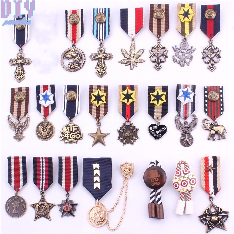 Love Five Star Elephant Military Metal Badge Retro Fabri Shoulder Board Badges Army Pin On Brooch Medal Handmade Latest Fashion Arts,crafts & Sewing