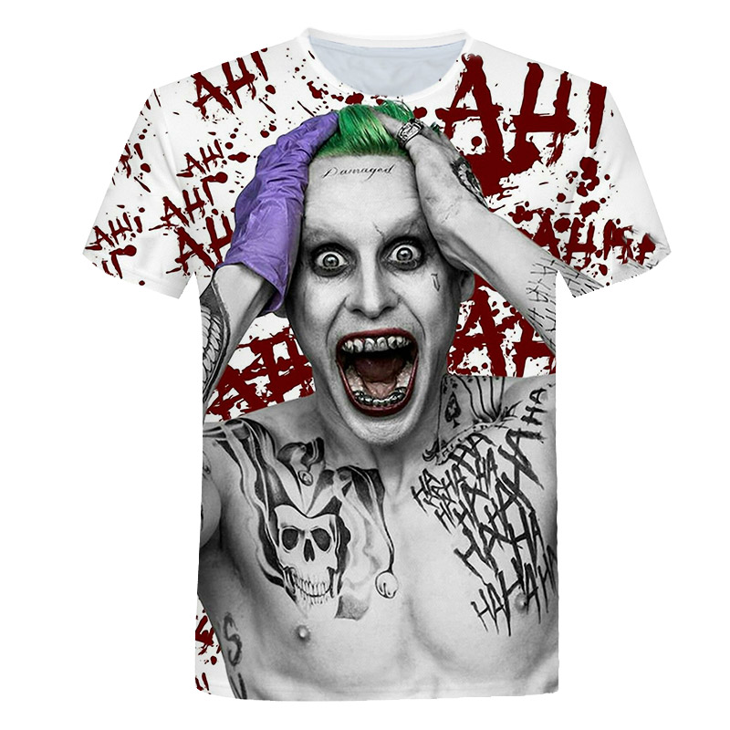Hot Sale Joker 3D Print   t     shirt   Men Women tshirt Summer Casual Short Sleeve O-neck Tops&Tees Killer 2019 Drop Ship