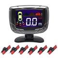 Buzzer LCD Reverse Backup Radar Monitor System 6 or 8 Car 13mm Original Flat Parking Sensor And 6 Colors Can Optional