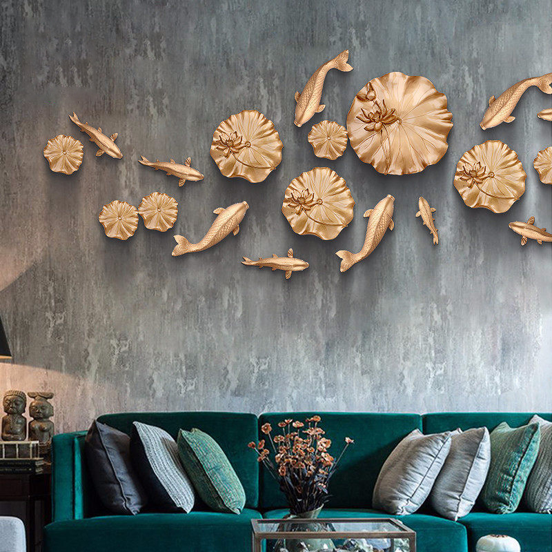 Mural Wall Fish /& Starfish Background Wall Decoration Flower Vase~K