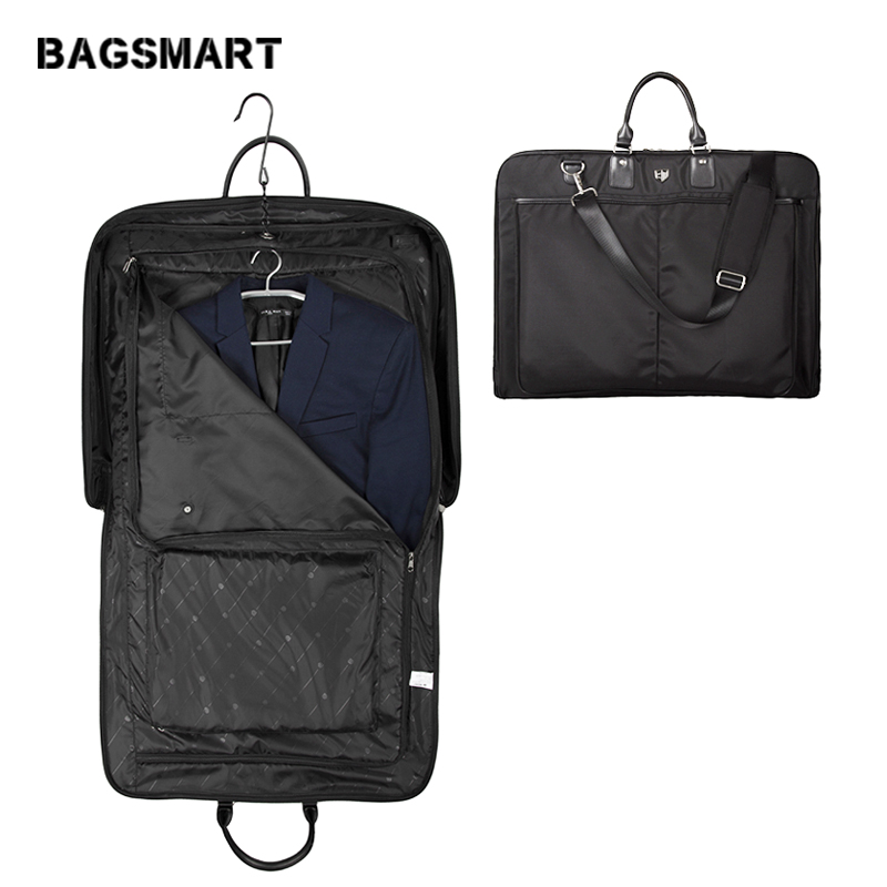BAGSMART Men Suit Cover Bag DustProof Water Repellent Dress Suit Carrier  Tote Ceremonial and Funerary Garment Bag Travel Bags -in Travel Bags from  Luggage ... 2838697245b60
