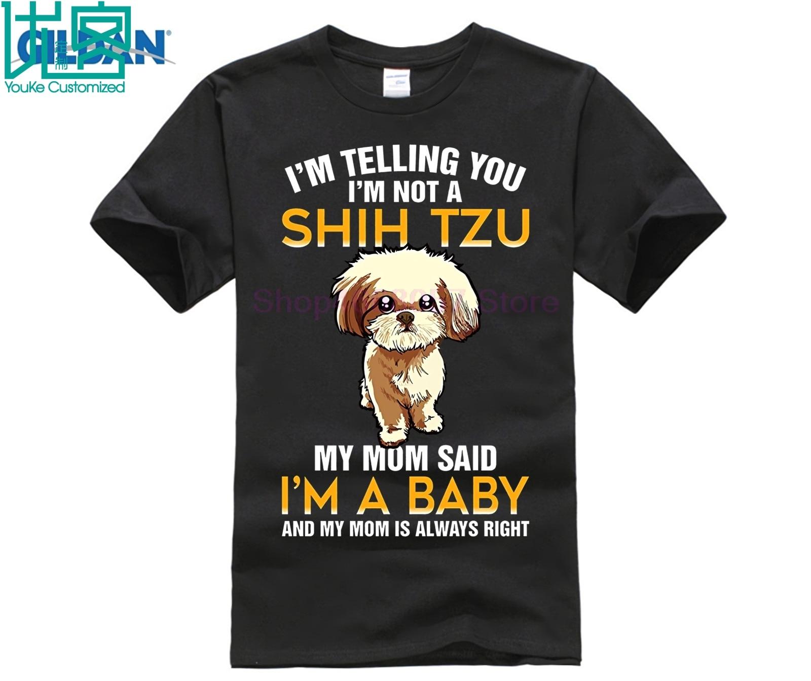 Im Not A Shih Tzu My Mom Said Baby T shirt