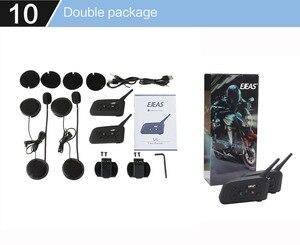 Image 5 - 2 stücke EJEAS V6 PRO Bluetooth Motorrad Intercom Helm Headset 6 Fahrer 1200m Kommunikator Sprech + Metall Schiene