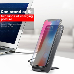 Image 2 - Baseus Qi Wireless Charger For iPhone 11 Pro XS Max Samsung S10 Xiaomi Mi 9 10W Fast Wirless Wireless Charging Pad Dock Station