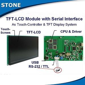 stone hmi tft lcd screen home automation touch controller
