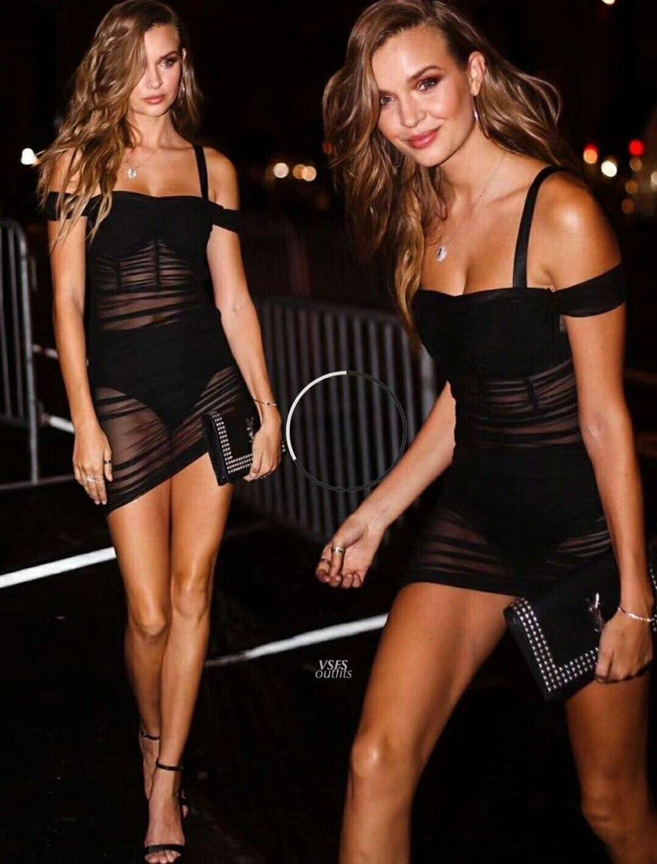 Noir Slash cou femmes dentelle pure robe moulante Sexy Club de fête Mini femmes Spaghetti bretelles robe vêtements vestido feminino R-012