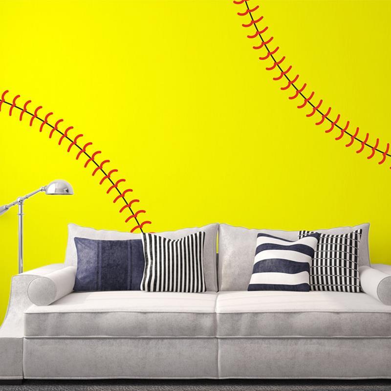Large Life Size Baseball Seams Stitching Stitch Vinyl Wall stickers ...