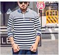 Мужчины Футболка-Поло мода 2017 Полосы Лоскутное бренд поло camisas человек плюс размер 7xl 6xl 2xl camisets