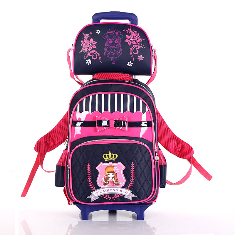 2018 съемный Обувь для мальчиков школьная сумка тележка набор Съемная Тележка школьный для девочек/Обувь для мальчиков колесный книги сумки ...