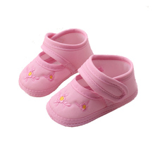 Baby Soft Sole  Shoes Infant Fashion First Walkers Toddler Girls Kid Cute Cartoon Anti-Slip Crib Shoes 0-18 Months недорого