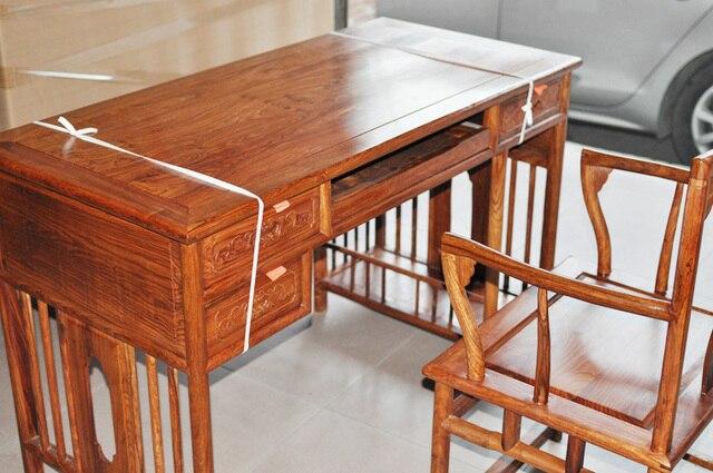 Bureau Bois Ordinateur : Table pas cher acajou bureau accueil ordinateur de bureau en bois