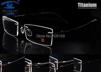 db8e0148e6 7 colores disponibles ultraligero gafas de titanio montura óptica de  memoria sin montura para hombres gafas de prescripción marcos de lentes  ópticos