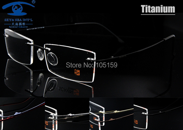 7 colores disponibles ultralight titanium anteojos hombres marco óptico anteojos recetados marcos de memoria sin montura de lentes opticos