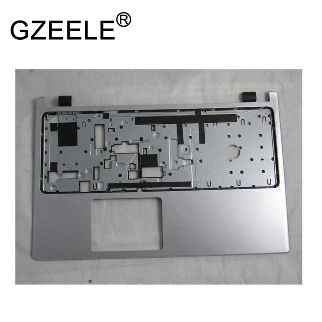 GZEELE new laptop Upper Case Cover For ACER Aspire V5-531 V5-531G V5-571 V5-571G Palmrest non-touch bezel keyboard silver