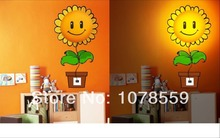 Free Shpping 220V Sunflower Shape Removeable DIY Kids' Bedroom Night Lamp Light Wall Sticker Kids favourite chandeliers
