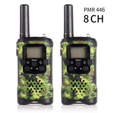 2 Pack JJ-220 8CH Twee Manier Radio Scanner PMR446 0.5 W Handheld Mini Kids Walkie Talkie Monitor Backlight lcd-scherm VOX Camouflage