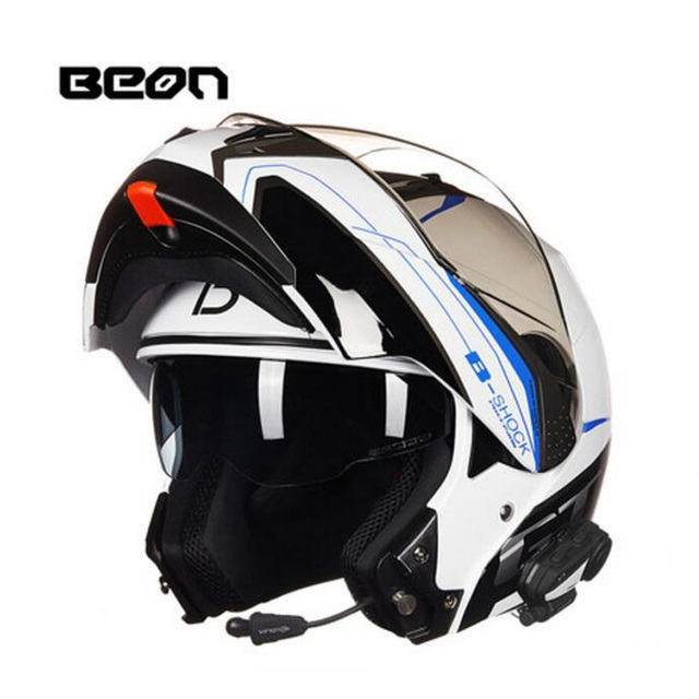 2019 New Netherlands BEON undrape face motorcycle helmet open face motorbike helmets with Bluetooth made of ABS PC lens visor