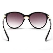 Women Summer Fashion Round Oversized Style Sunglasses Eyewear Vintage Metal Frame Sun Glasses UV400 5 Colors