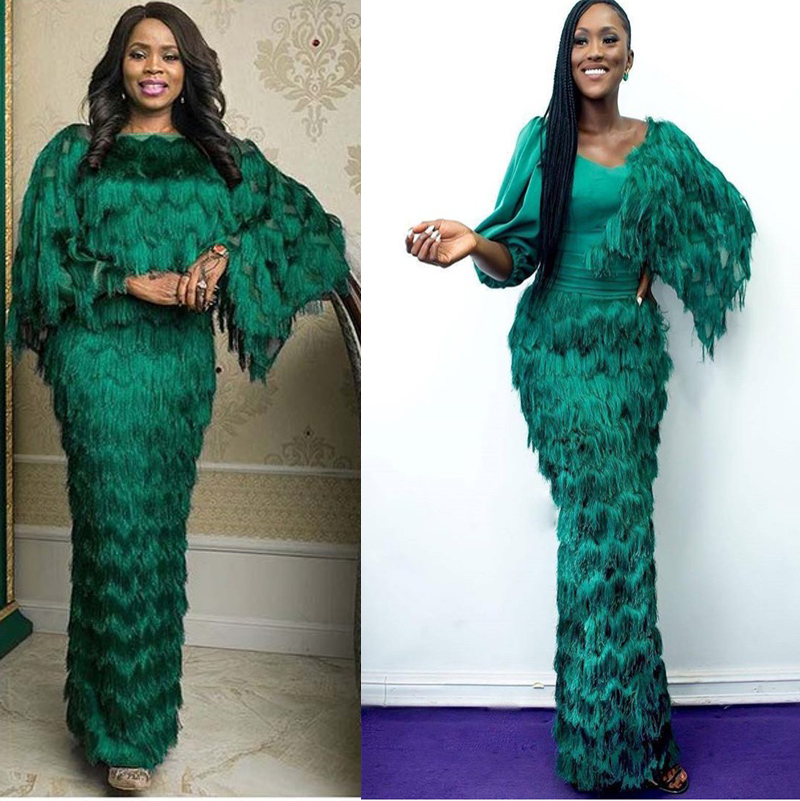 2019 green african tassel lace fabric high quality french lace fabric wedding party nigerian swiss lace