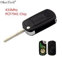 Okeytech 3 Button Folding Flip Remote Control Car Key For LAND ROVER Range Rover Sport LR3