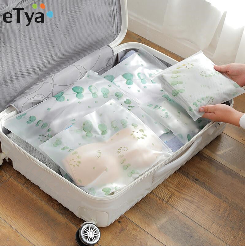 ETya Travel PVC Packing Bag Set Bag Pouch Waterproof Neceser Cosmetic  Toiletries Clothing Underwear Shoes Bags