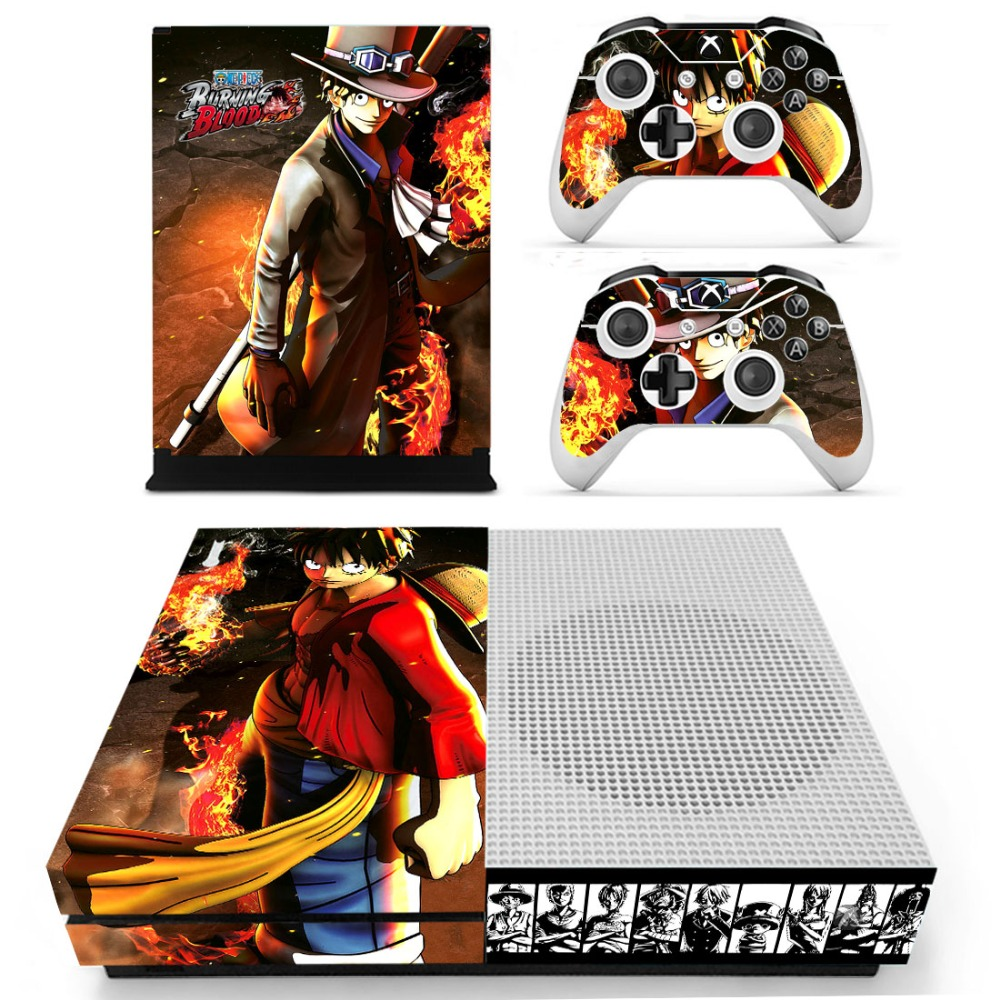 ONE PIECE Vinyl Skin Sticker for the Xbox One S Console With Two Wireless Controller Decals ...